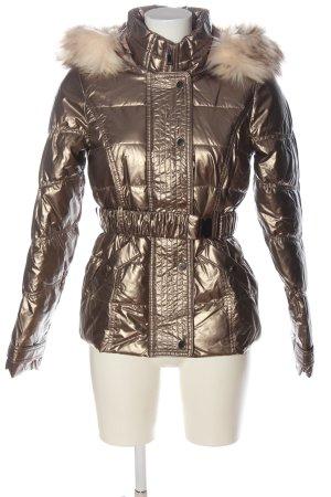 River Island Veste à capuche bronze motif de courtepointe style décontracté