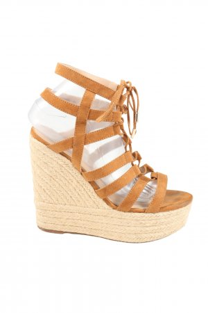 River Island Wedges Sandaletten braun Casual-Look