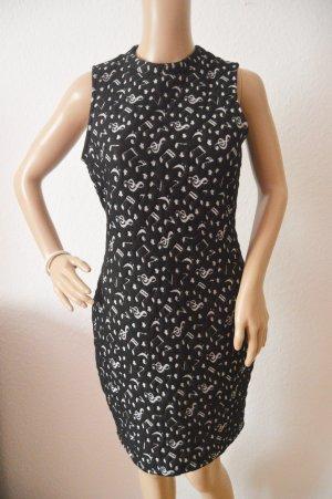 River Island Midi-jurk zwart-wit