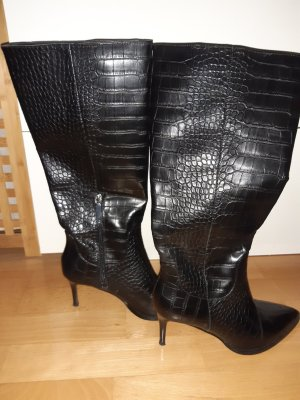 High Heel Boots black polyurethane