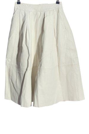 River Island Falda de cuero de imitación blanco look casual