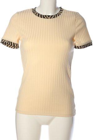 River Island Ribbed Shirt cream-black casual look