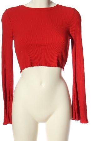 River Island Camicetta a maniche lunghe rosso stile casual