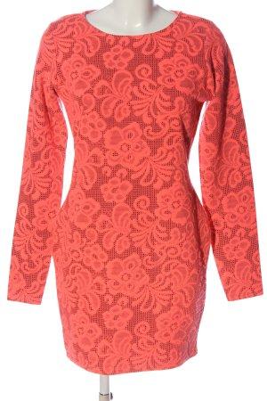 River Island Robe à manches longues rouge motif graphique style décontracté