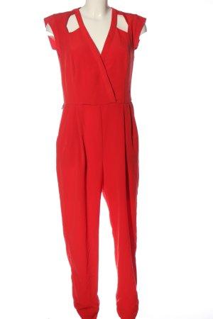 River Island Langer Jumpsuit rouge style décontracté