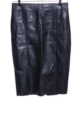River Island Falda de cuero negro look casual