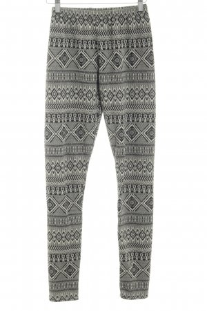 River Island Leggings hellgrau abstraktes Muster Casual-Look