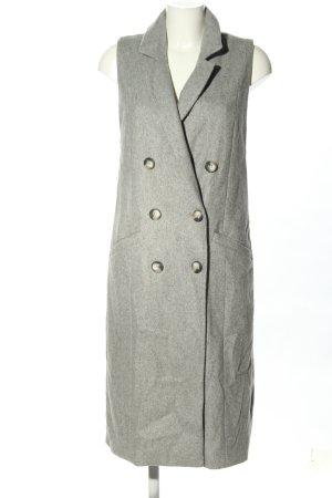 River Island Heavy Pea Coat light grey flecked casual look