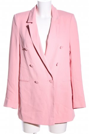 River Island Long-Blazer pink Business-Look