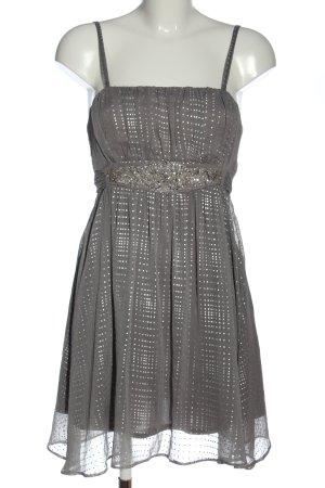 River Island Mini vestido gris claro-color plata elegante