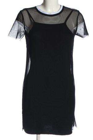River Island Minikleid schwarz-weiß Casual-Look