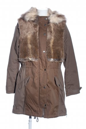 River Island Parka braun Business-Look