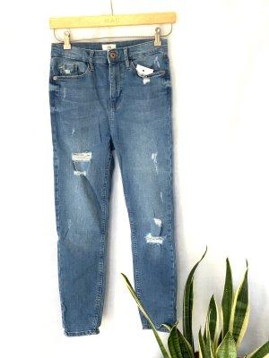 River Island Petite - Harper - Superenge Jeans mit hohem Bund