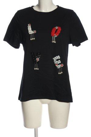 River Island Camiseta estampada negro look casual