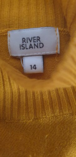 River Island Pullover Senf/Curry Gr.40/M-L