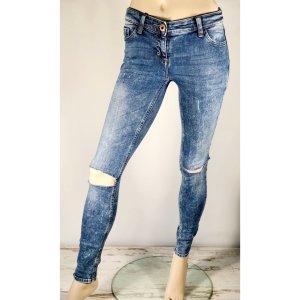 RIVER ISLAND Ripped Jeans W27 L34 EU 36 Super Skinny blau