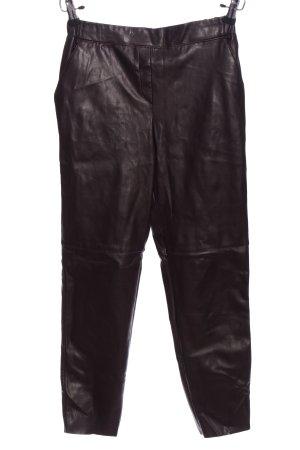 River Island High Waist Trousers brown wet-look