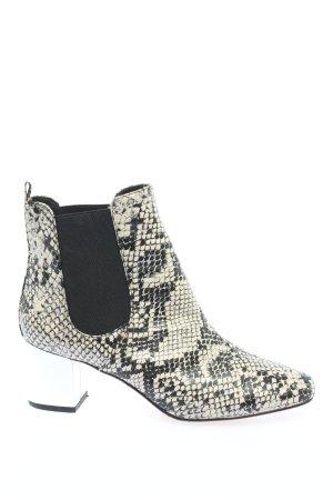 River Island Schlüpf-Stiefeletten weiß-schwarz abstraktes Muster Casual-Look