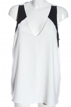River Island Schlupf-Bluse weiß-schwarz Casual-Look