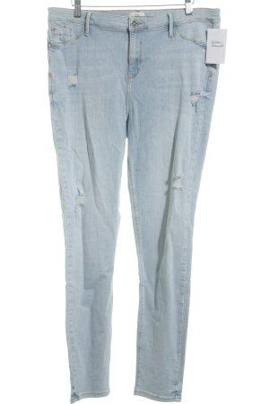 River Island Skinny Jeans hellblau Destroy-Optik