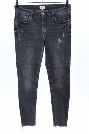 River Island Slim Jeans hellgrau Casual-Look