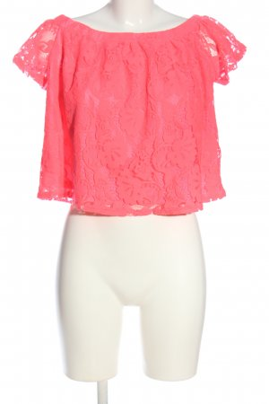 River Island Spitzenbluse pink Casual-Look