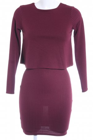 River Island Spitzenkleid bordeauxrot Casual-Look