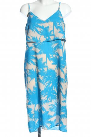 River Island Vestito da spiaggia blu-crema stampa integrale stile casual