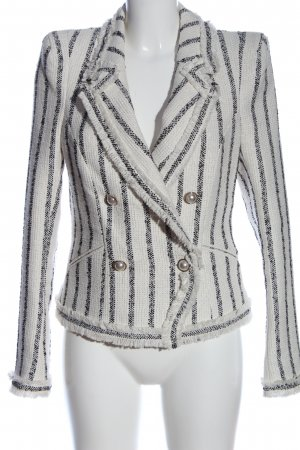 River Island Knitted Blazer white-black striped pattern casual look