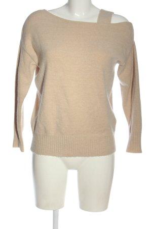 River Island Pull tricoté blanc cassé moucheté style décontracté