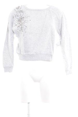 River Island Sweatshirt hellgrau meliert Casual-Look