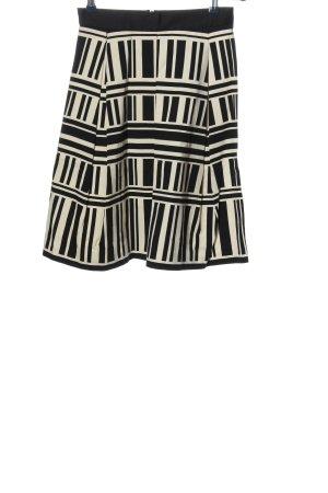 River Island Spódnica z koła czarny-w kolorze białej wełny W stylu casual