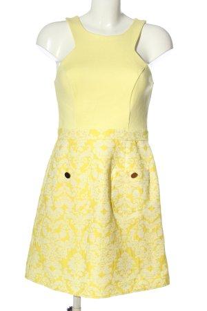 River Island Abito scamiciato giallo pallido-bianco modello misto stile casual