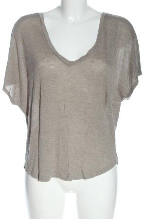 River Island T-shirt col en V gris clair moucheté style décontracté