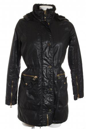 River Island Winterjacke schwarz Casual-Look