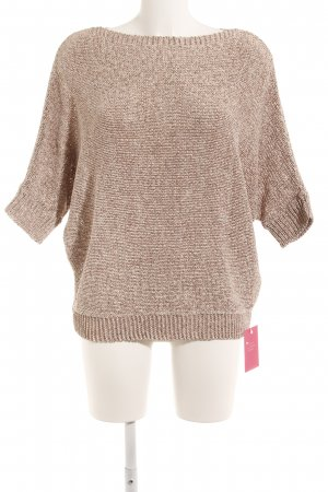 river woods Grobstrickpullover weiß-rostrot meliert Casual-Look