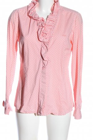 river woods Hemd-Bluse pink-weiß Allover-Druck Casual-Look