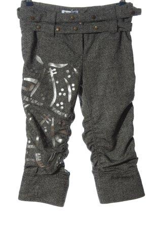 rivyon fashion club 3/4 Length Trousers light grey-silver-colored themed print