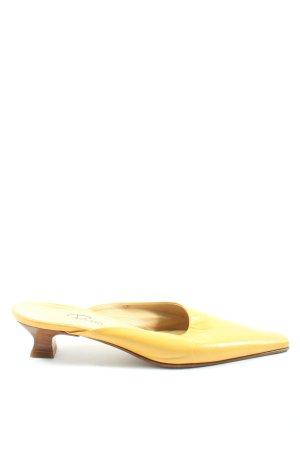 Rizzo Sandalias con tacón amarillo pálido elegante