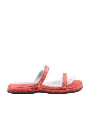Rizzo Sandalias de tiras rojo look casual