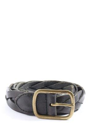 RLL Cinturón trenzado negro punto trenzado look casual