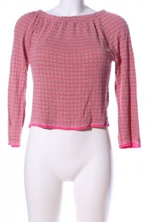 ROAD Cashmerepullover pink-hellgrau Allover-Druck Casual-Look