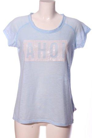 Roadsign australia Print-Shirt blau Schriftzug gedruckt Casual-Look
