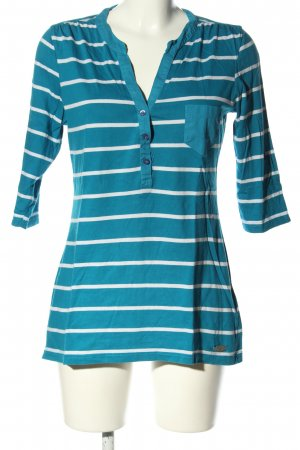 Roadsign australia Ringelshirt blau-weiß Allover-Druck Casual-Look