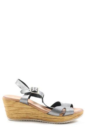 roan Sandales à plateforme gris clair style décontracté