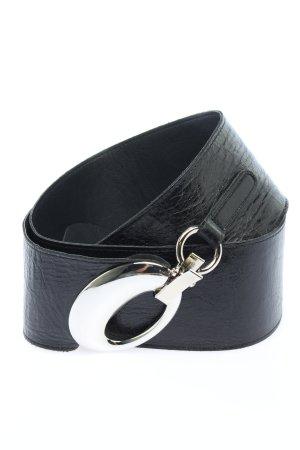 Robako Ceintures Cinturón de cuero negro estilo «business»
