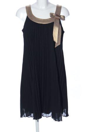 Robbie Bee Babydollkleid schwarz-braun Elegant