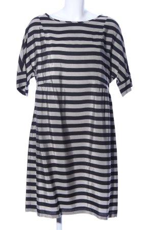 robe légère by Vera Mont Kurzarmkleid hellgrau-schwarz Streifenmuster