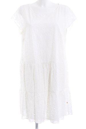 robe légère by Vera Mont Spitzenkleid weiß abstraktes Muster Casual-Look