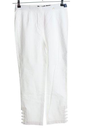 Robell Spodnie Capri biały W stylu casual